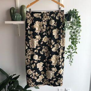 🦎BOGO vintage floral midi skirt
